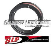 S.I.P. Vespa / LML Set Of 3 X TUBELESS WHEEL RIMS in BLACK