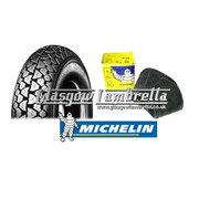 Set of 2 Michelin S83 350 x 8 Tyres + Airstop Tubes