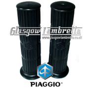 PIAGGIO Vespa Small Frame BLACK RUBBER HANDLEBAR GRIPS