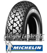Single Michelin S83 350 x 10 Tyre Fitted to S.I.P. Vespa Tubeless Rim