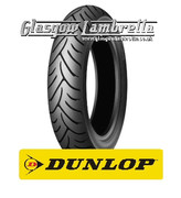 Single Dunlop Scootsmart 350 x 10 Tyre Fitted to S.I.P. Vespa Tubeless Rim