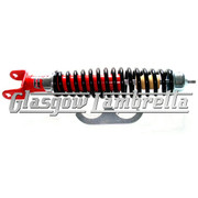 CARBONE VESPA PX, T5 & LML Italian Top Quality RED & BLACK REAR SHOCK ABSORBER