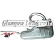 Genuine AF RAYSPEED S2 & S3 Lambretta CLUBMAN (ANCILLOTTI) 42mm SILVER EXHAUST