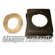 Lambretta s2 & s3 OIL TANK DRIP TRAY + FELT GP/DL,Li,SX,TV,Special