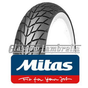 Set of 2 x MC20 Whitewall 350 x 10 Tyres Fitted to S.I.P. Vespa Tubeless Rims