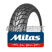 Set of 3 x MC20 350 x 10 Tyres Fitted to S.I.P. Vespa Tubeless Rims