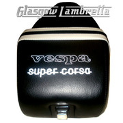 Vespa & LML  Repro/Copy GIULIARI SUPER CORSA SEAT in BLACK & WHITE
