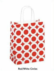Recycled Shopping Bag - Red/White Circle Collection