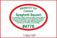 Spaghetti Squash PLU #4776 Label - Product of Canada