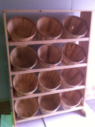 12 Half Bushel Wood Display