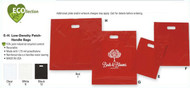 Color Merchandise Bag Low Density 9x12 w/Patch handle