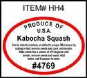 Kabocha Squash PLU #4769 Label