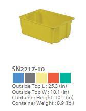 Plexton Stack-N-Nest Fiberglass Containers 1