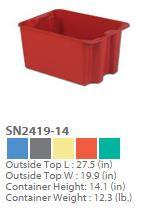 Plexton Stack-N-Nest Fiberglass Containers 2