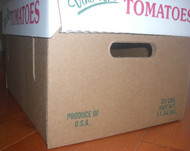 25 lb Tomato Box Bottom Only - Bundle of 25