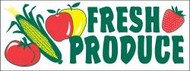 Fresh Produce banner 8' x 3'