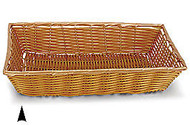 Poly-coated Willow tray - Large Hazelnut
