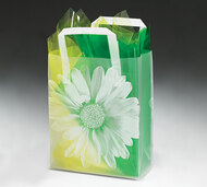 Frosted Tote Bag Big Flower