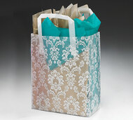 Frosted Gift Tote Bag - Damask