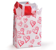 Frosted Tote Bag - Hearts