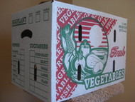 1 1/9 BUSHEL Waxed Vegetable/Produce Box KD-131A