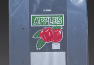 One Bushel Printed Apple bag Gusseted