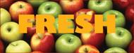 Fresh Apples banner Heavy Duty 10' x 4'