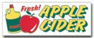 Fresh Apple Cider banner 8' x 3'