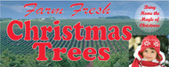 Farm Fresh Christmas Trees banner Heavy Duty