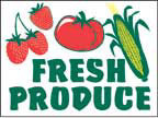 Marketeer Sign - Fresh Produce