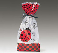 Cello Bag - Lady Bug swirl