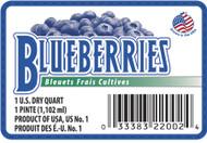 Blueberry Label - 1 Quart w/UPC