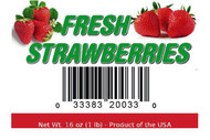 Fresh Strawberry Label - 16 oz or 1 lb