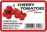 Cherry Tomato Label - 1 Pint w/UPC
