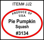 Pie Pumpkin PLU #3134 Label