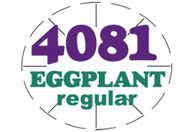 Eggplant Regular PLU #4081 Label