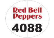 Red Bell Pepper PLU #4088 Label