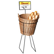 Willow Display Bin - Round w/Handles
