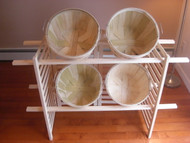 Folding Display w/4 Half Bushel Baskets