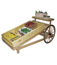 Wooden Cart - Slanted Produce Cart