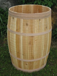 Barrel - Cedar barrel w/Optional Lid 18x30