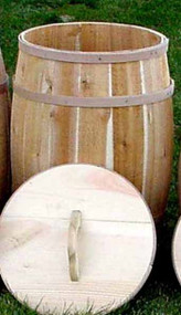 Barrel - Cedar barrel w/Optional Lid 16x27
