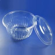 Plastic Bowl w/Lid 32 oz. Clear