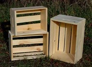 Wood Crate - 2 Sets of 3 Nested Crates