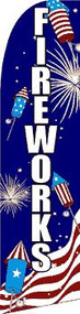 Fireworks USA Tall Flag