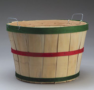 Bushel Basket - Red & Green Bands