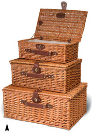 Set of 3 Willow Suitcase Hampers