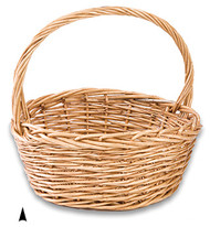 Round Thick Willow Basket