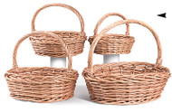 Set of 4 Oval Jumbo Willow Baskets