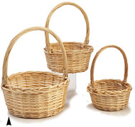 Set of 3 Round Willow Baskets